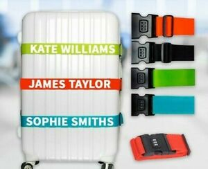 Personalised Luggage Strap With Lock Suitcase Printed Safe Luggage Belt 5cm wide