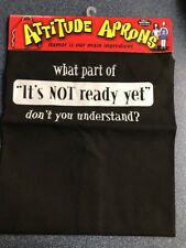 Attitude Aprons Bbq Indoor / Outdoor Cooking Fun Humor Black w/ White lettering