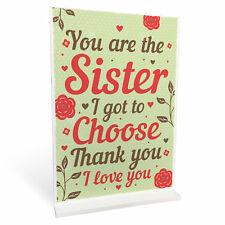 Best FRIEND Sister Gifts Standing Plaque Christmas Friendship Sign Gift Birthday