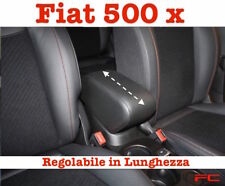 Bracciolo Fiat 500 X nero Regolabile scorrevole Armrest Armlehne Accoudoir