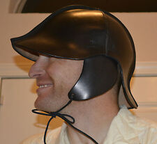 Leather Helmet, Italian Style, Handmade, 100% Genuine Leather