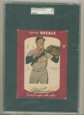 1952 STAR -CAL DECAL #81-A, RED SCHOENDIENST, HOF, CARDINALS, SGC A