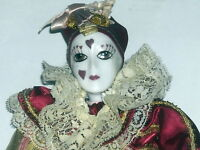 Kingstate Ten Inch Tall Porcelain Clown Doll