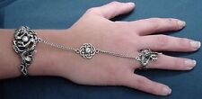 Dragon Slave Bracelet & Ring - Celtic Knotwork - Lead Free Pewter SCA Garb fnt