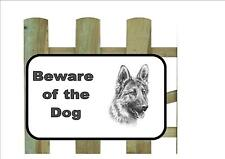 Schäferhund Beware of the Dog Design Metall Türschild