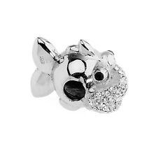 Amore & Baci Swarovski Puppies Bead Sterling Silver