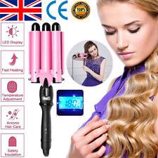 Triple Barrel Hair Curler Ceramic Curling Iron Salon Styler Crimper Wave Waver