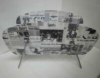 Vintage Zeitungsständer Newspaper Zeitungsablage Zeitungsartikel Optik 50s Retro