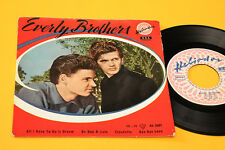 "EVERLY BROTHERS EP 7"" ORIG ITALY 1958 DEBUT RECORD TOP RARE 4 CANZONI"