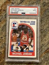 1989 Hoops #21 Michael Jordan All-Star PSA 9 MINT Chicago Bulls NBA MVP HOF 542
