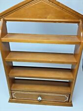 Vintage Lenox Spice Village Wooden Maple Display Rack Shelf Only 1989