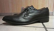 ESPRIT Schuhe Schwarz Leder Gr 44 NEU Vintage Business Boots TOP
