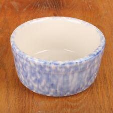 Roseville Blue & White Spongeware Bowl Vintage
