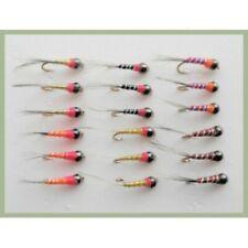 Trota FLY Fishing Flies Ninfa Cicalini Set 33J-12 Gancio dimensioni 12 x 16 Trote Mosche