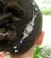 Handmade Vintage Wedding and Bridal Silver Rhinestone Hair Comb