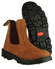 Chaussures de sécurité de travail marrons pour bricolage, taille 43