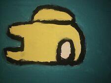 Handmade Yellow Among us painting. Orignal painting