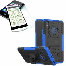 For Xiaomi Redmi Note 6 pro Hybrid Case Outdoor 2 Pieces Blue + H9 Glass Case