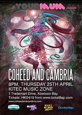 COHEED AND CAMBRIA 2013 HONG KONG CONCERT TOUR POSTER-Progressive/Alt Rock Music
