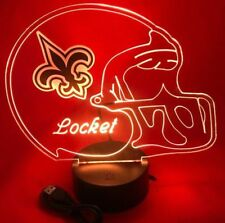 Saints Lamp LED Light Up Night Light With Remote and Personalized Free NFL Lamp
