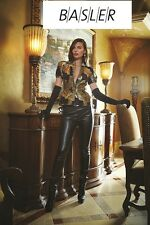 $1345 NWT BASLER SUPER CHIC & SEXY RUNWAY REAL LEATHER /SUEDE COUTURE  PANTS US8
