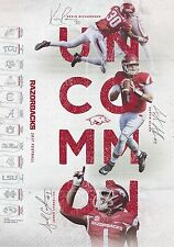 Arkansas Razorbacks 2017 Football Schedule Poster Red White Spring Game SEC