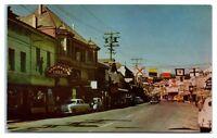 1950s Placerville, CA Street Hangman's Tree, Murray's, Bank of America Postcard