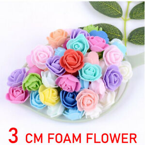 Foam Mini Roses WHOLESALE Head Buds Small Flowers Wedding Home Party Decorations