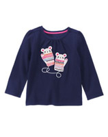 Gymboree Baby Girl Mouse Mittens Tee (6-12 Months), Retail $21.95