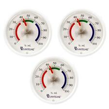 Hygrometer 3 Stück Set selbstklebend Luftfeuchtigkeit Luftfeuchte analog weiß
