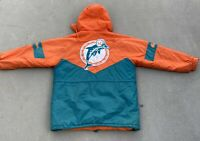 Vintage 90's NFL Gameday Miami Dolphins Puffer Jacket W/ Hood Size XL