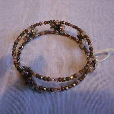 Accessories Beaded /Crystal Brown Bracelets2.5inch Glass/stretchwire BNWT (0025)