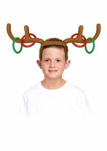 INFLATABLE ANTLERS GAME CHRISTMAS RING TOSS REINDEER HOOPLA FESTIVE FUN TOY KIDS