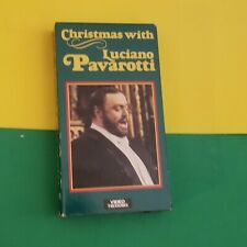CHRISTMAS WITH LUCIANO PAVAROTTI - VHS -