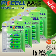 Precharged AA Rechargeable Battery 2600mAh 1.2v Ni-mh AA Type battery ,16 Packs