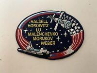 NASA Space Shuttle  Crew Patch Halsell, Horowitz, Helms, Usachev, Voss, Williams