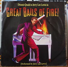 JERRY LEE LEWIS GREAT BALLS OF FIRE OST DENNIS QUAID GERMAN SP POLYDOR 1989