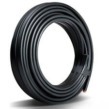 New Aim Twin Core Wire Electrical Cable 10m - Black (Pack of 2)