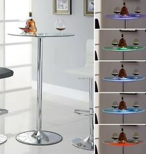 "42"" Transitioning 6 Color LED Bar Table with Glass Top by Coaster 122400"