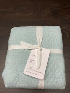 Pottery Barn NEW Beach Glass Quilted Euro Hanna 26 X 26 Sham