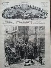L'UNIVERS ILLUSTRE 1877 N 1176 LA PERIODE ELECTORALE A PARIS : AFFICHAGE ...