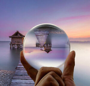 80mm Clear Crystal Ball Photography Lens Photo Sphere Healing Ball Photo Decor
