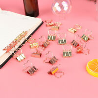 10pcs Hollow Out Heart Shape Metal Binder Clips Photos Tickets Notes Paper ClBCD