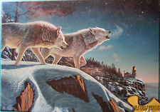 """Kim Norlien Painter of Peace & Tranquility """"Moonlight Prowlers"""" 500 Piece"""