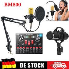BM800 Mikrofone Kondensator Mikrofon Microphone Kit Komplett Set für Studio Live