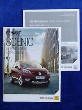 Renault Scenic Xmod Paris Bose MJ 2014-prospectus brochure + liste de prix 11.2013