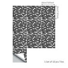10pcs Mosaic Kitchen Bathroom Tile Sticker Selfadhesive Waterproof Home Decor