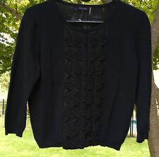 Magaschoni Women's Black Cotton/ Poly Sweater M NWT $398