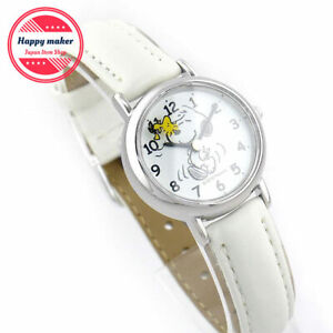 Citizen Q&Q Analog Ladies Watch Snoopy White band Waterproof With Box P003-314