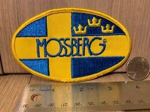 "Mossberg Shotgun Embroidered Patch-Yellow Edge- 4.5"" x 2.75"" Swedish Flag Crowns"